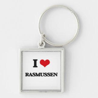Amo Rasmussen Llavero Cuadrado Plateado