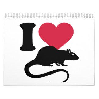 Amo ratas calendarios