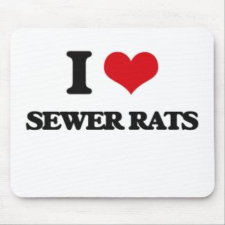 Amo ratas de alcantarilla alfombrilla de ratón