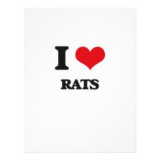 Amo ratas flyer a todo color
