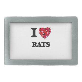 Amo ratas hebillas cinturon rectangulares