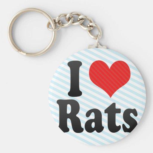 Amo ratas llaveros personalizados
