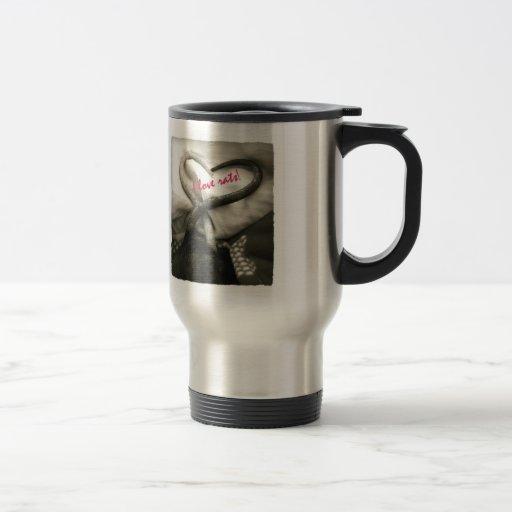 ¡Amo ratas! taza de plata