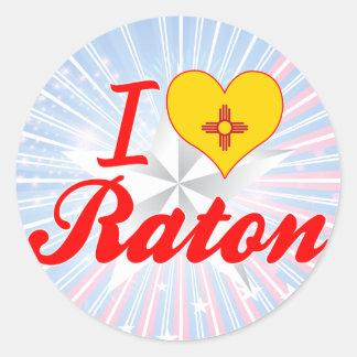 Amo Raton, New México Pegatinas Redondas