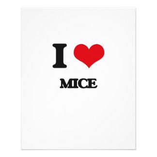 Amo ratones tarjetas publicitarias