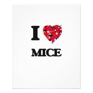"""Amo ratones folleto 4.5"""" x 5.6"""""""
