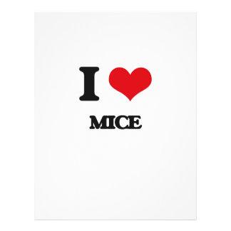 Amo ratones flyer personalizado