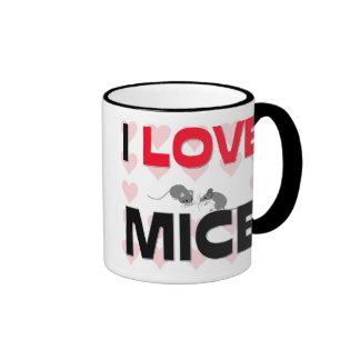 Amo ratones tazas de café