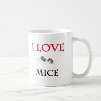 Amo ratones taza de café