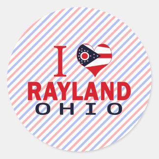 Amo Rayland Ohio Pegatina Redonda