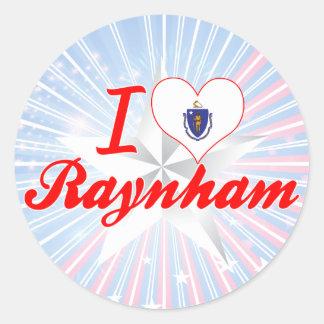 Amo Raynham Massachusetts Pegatina