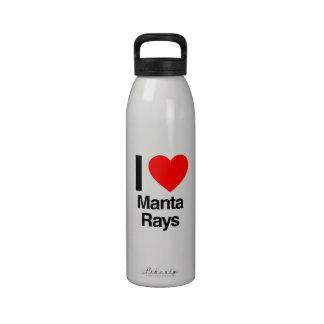amo rayos de manta botellas de beber
