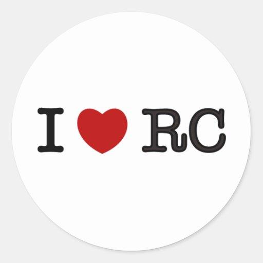 Amo RC Etiquetas Redondas