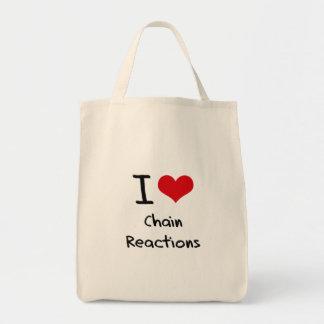 Amo reacciones en cadena bolsas de mano