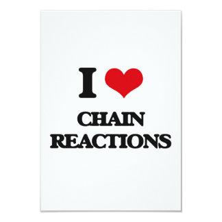 Amo reacciones en cadena invitación 8,9 x 12,7 cm