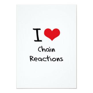 Amo reacciones en cadena invitación 12,7 x 17,8 cm