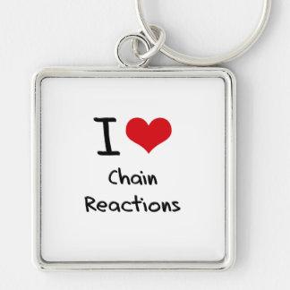 Amo reacciones en cadena llavero