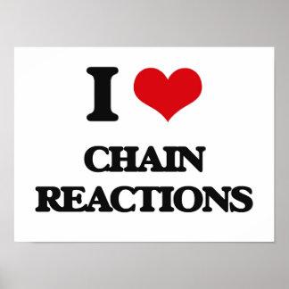 Amo reacciones en cadena impresiones