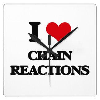 Amo reacciones en cadena reloj de pared