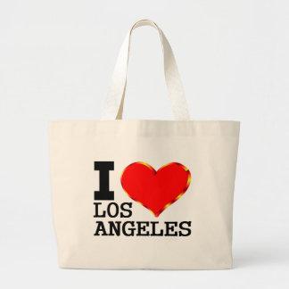 Amo realmente Los Ángeles Bolsa De Tela Grande