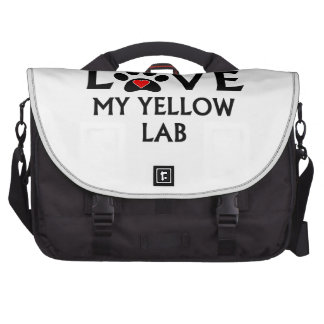 Amo realmente mi laboratorio amarillo bolsas de portatil