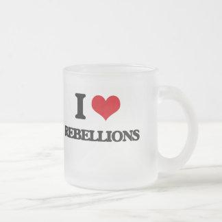 Amo rebeliones taza cristal mate
