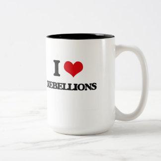 Amo rebeliones taza dos tonos