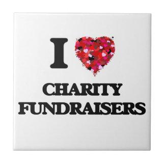 Amo recaudadores de fondos de la caridad azulejo cuadrado pequeño