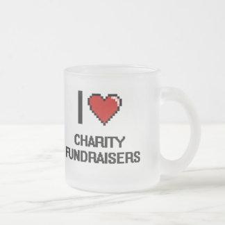 Amo recaudadores de fondos de la caridad taza cristal mate