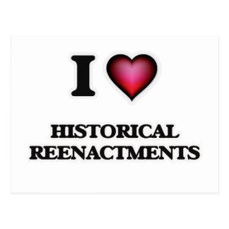 Amo reconstrucciones históricas tarjeta postal