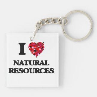 Amo recursos naturales llavero cuadrado acrílico a doble cara