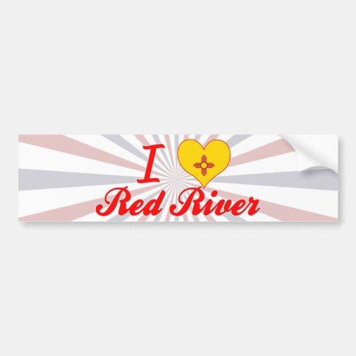 Amo Red River, New México Etiqueta De Parachoque