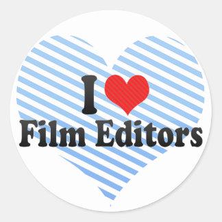Amo redactores de la película pegatinas