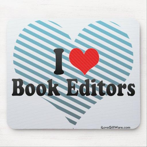 Amo redactores del libro mousepads
