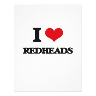 Amo Redheads Flyer Personalizado