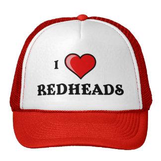 Amo Redheads Gorras