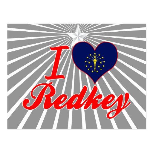 Amo Redkey, Indiana Tarjeta Postal