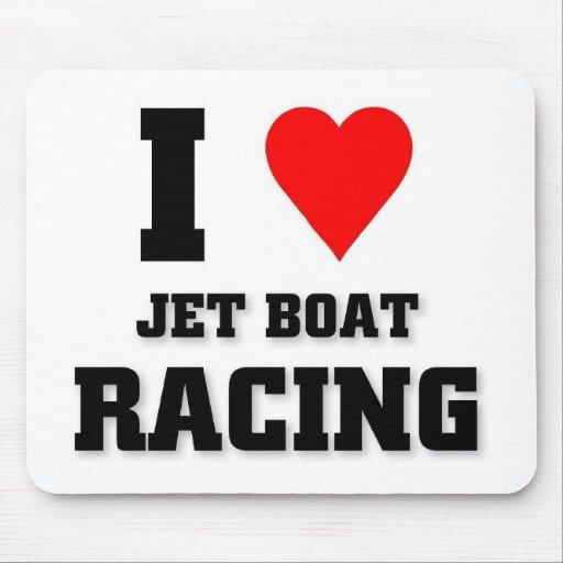 Amo regatas del jet alfombrillas de ratones
