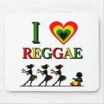 Amo reggae alfombrillas de ratones