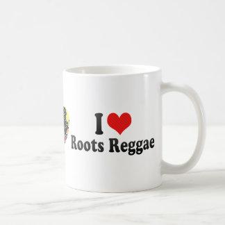 Amo reggae de las raíces tazas