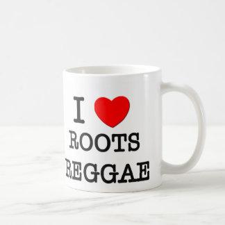 Amo reggae de las raíces taza de café