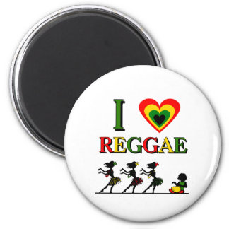 Amo reggae iman para frigorífico