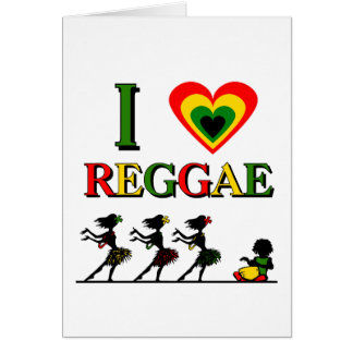 Amo reggae tarjeta
