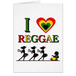Amo reggae tarjeta de felicitación