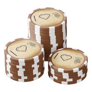 Amo reglas de la mano juego de fichas de póquer
