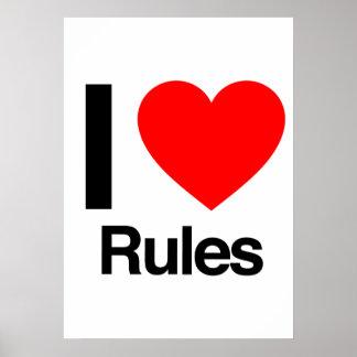 amo reglas posters