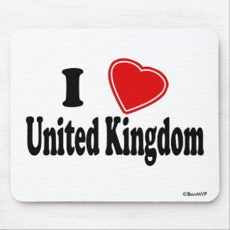 Amo Reino Unido Alfombrillas De Raton