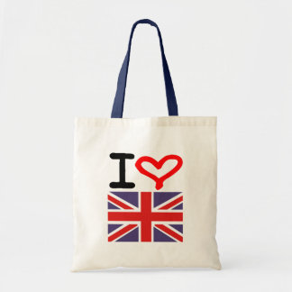 Amo Reino Unido Bolsa Tela Barata