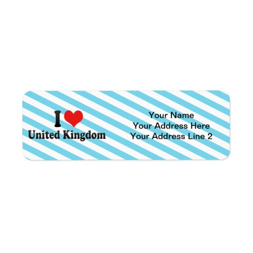 Amo Reino Unido Etiquetas De Remite