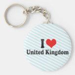 Amo Reino Unido Llaveros